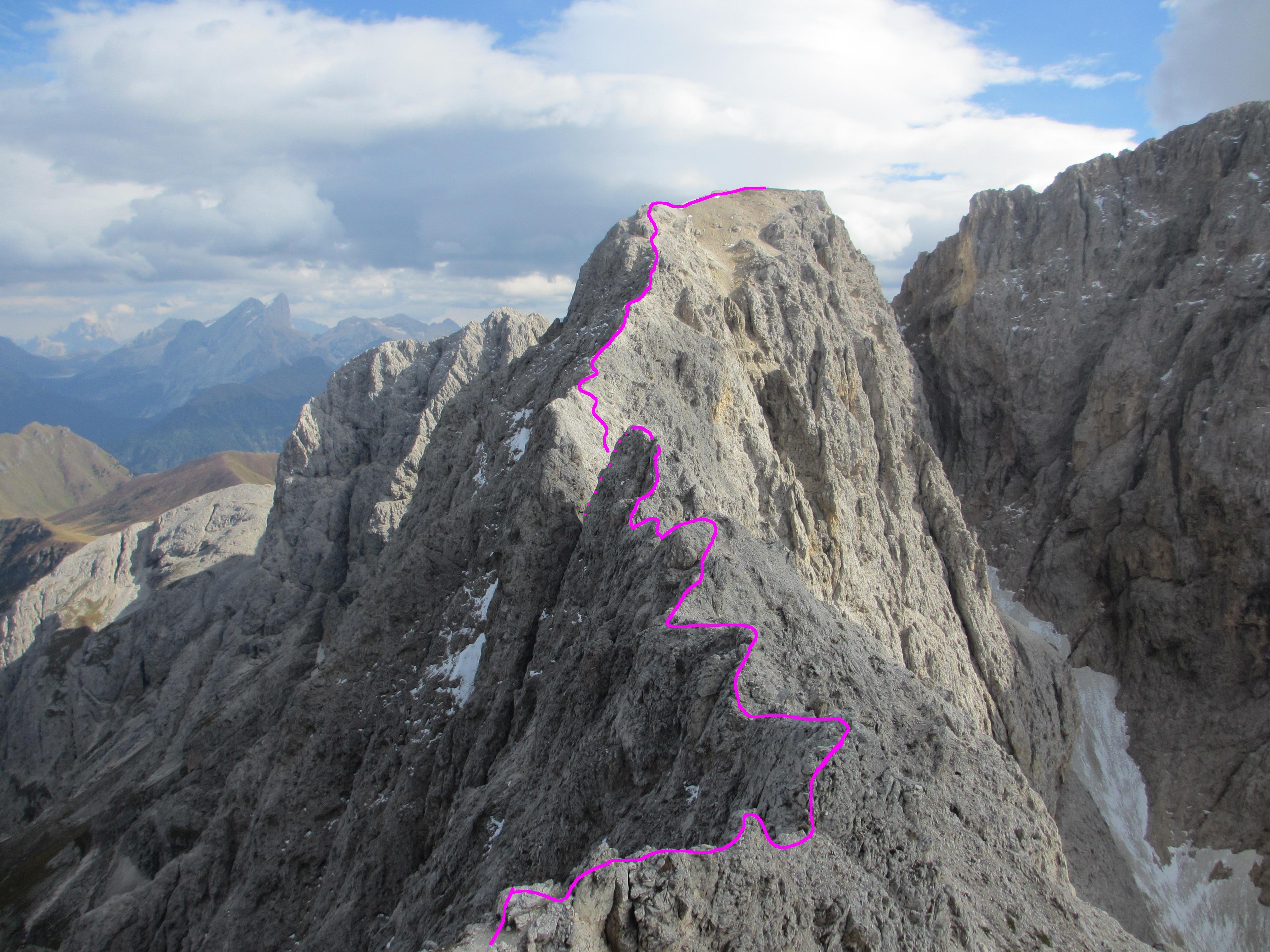 Maximilian Klettersteig : Klettersteig durchquerung im rosengarten