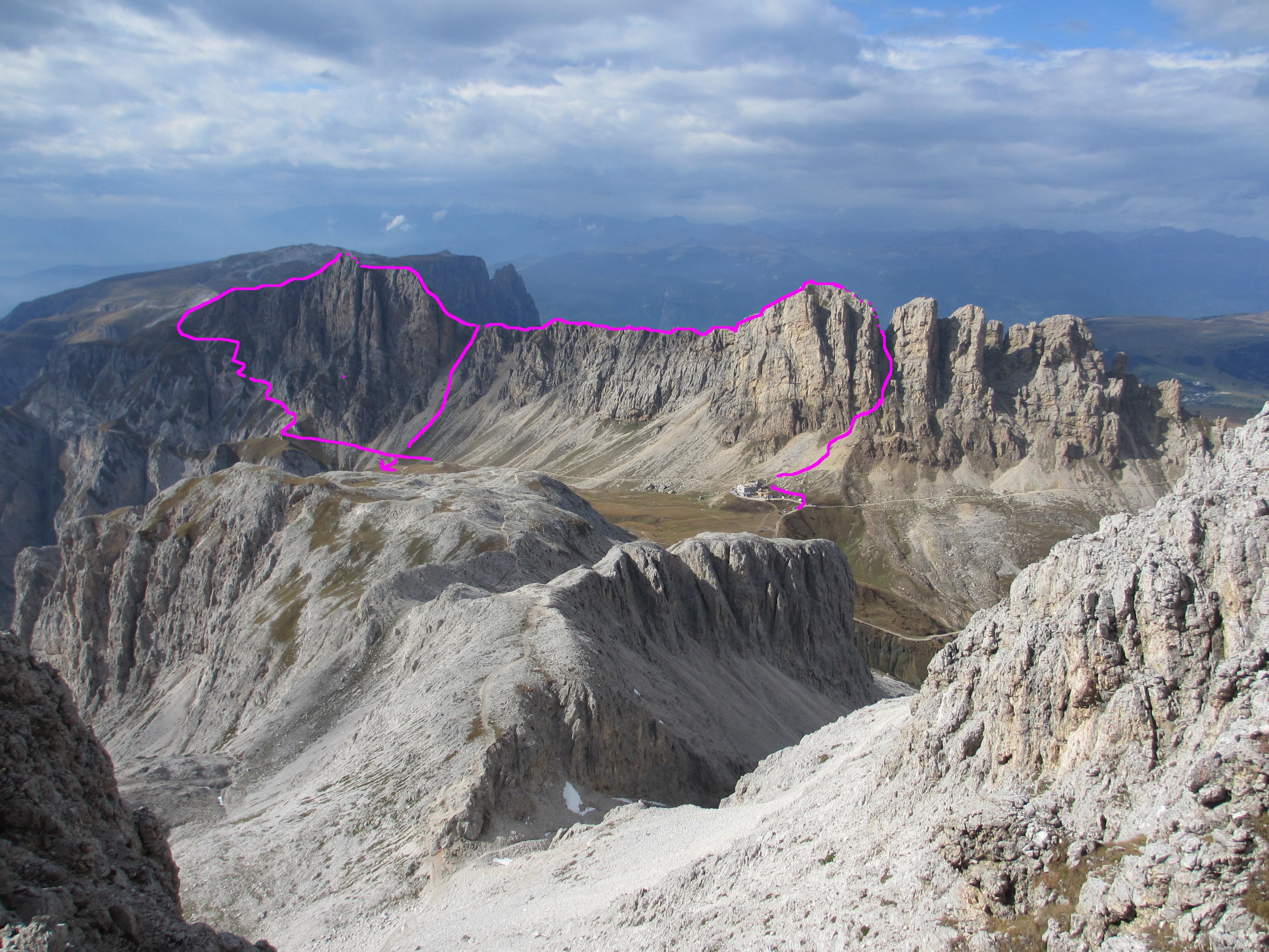 Klettersteig Rosengarten : Maximiliansteig klettersteig im rosengarten schlern