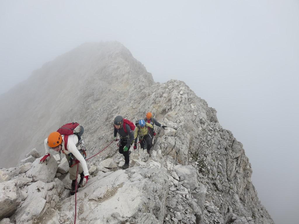 Klettersteig-Überschreitung-Kesselkogel-Rosengarten