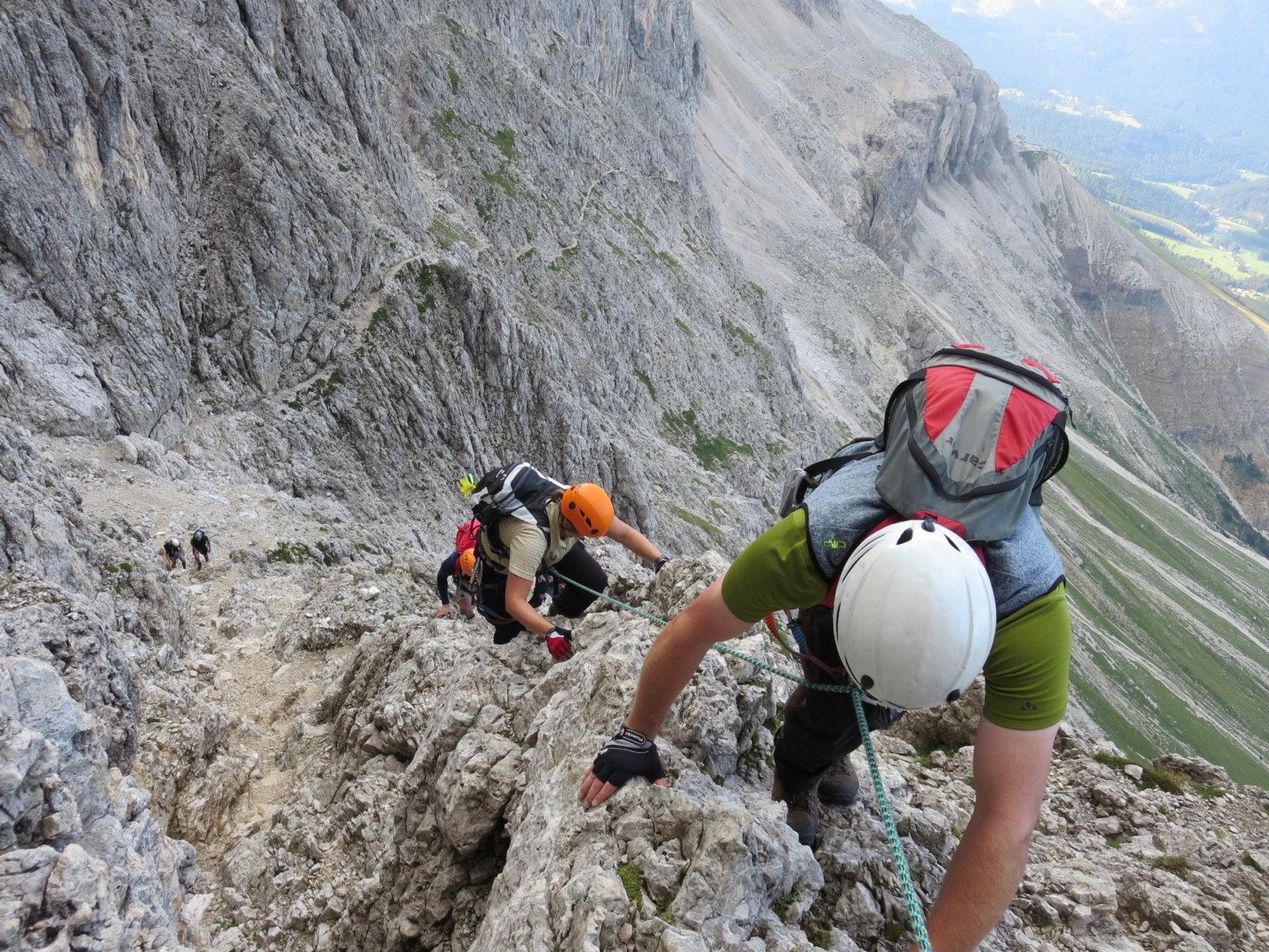 Klettersteig Rosengarten : Santner klettersteig in der rosengartengruppe