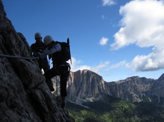 Piscadu-Klettersteig-Tridentina-Dolomiten