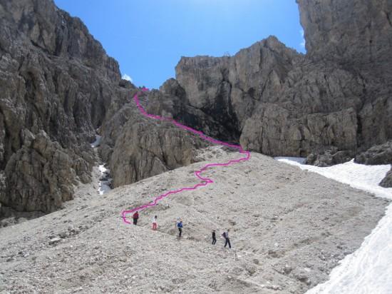 Abstieg-Piscadu-Klettersteig-Tridentina-Dolomiten