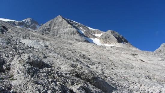 Marmolata mit Bergführer