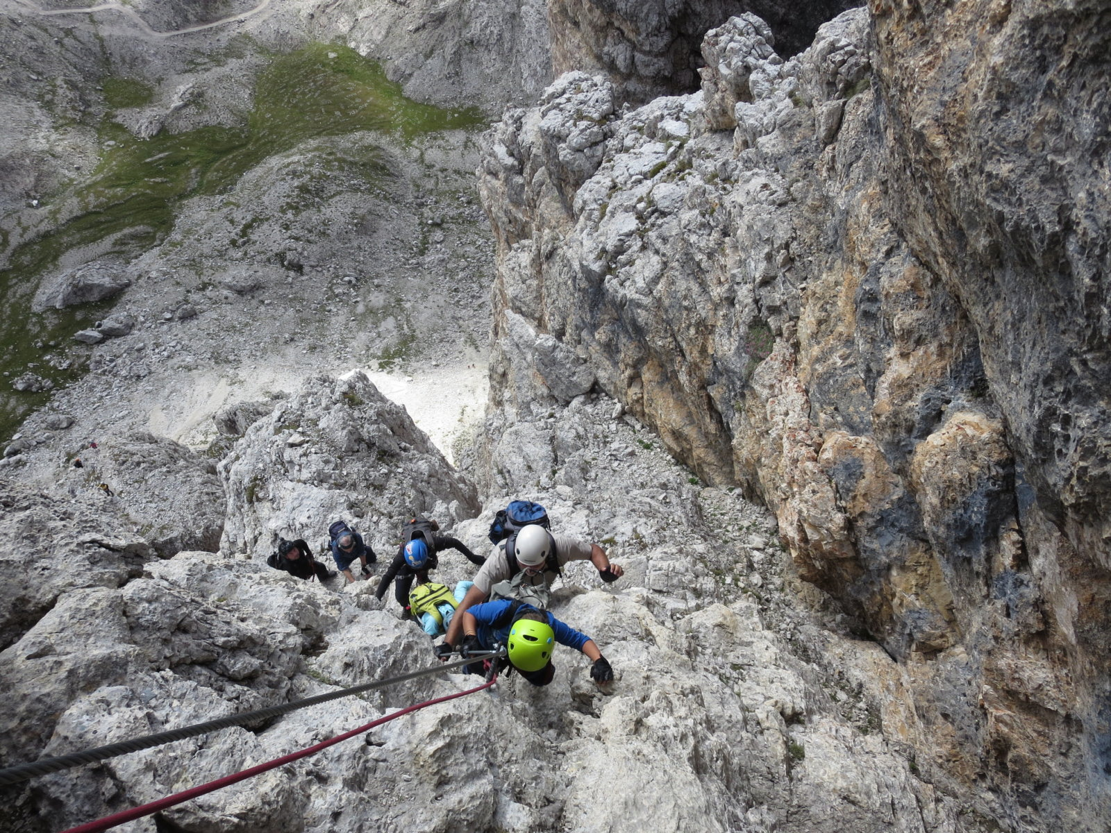 Vallon Klettersteig : Klettersteig beschreibung lichtenfelser weg