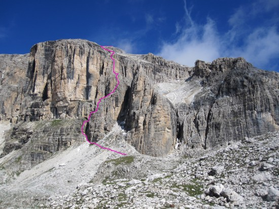 klettersteig Boeseekofel-Piz da Lech-Dolomiten