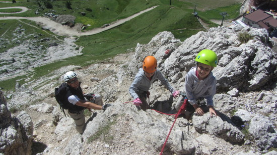 Cirspitze-Klettersteig-Dolomiten