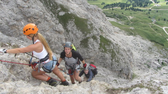 Klettersteig Cirspitze Grödental