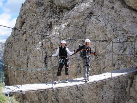 Haengebruecke Klettersteig Piscadu - Tridentina