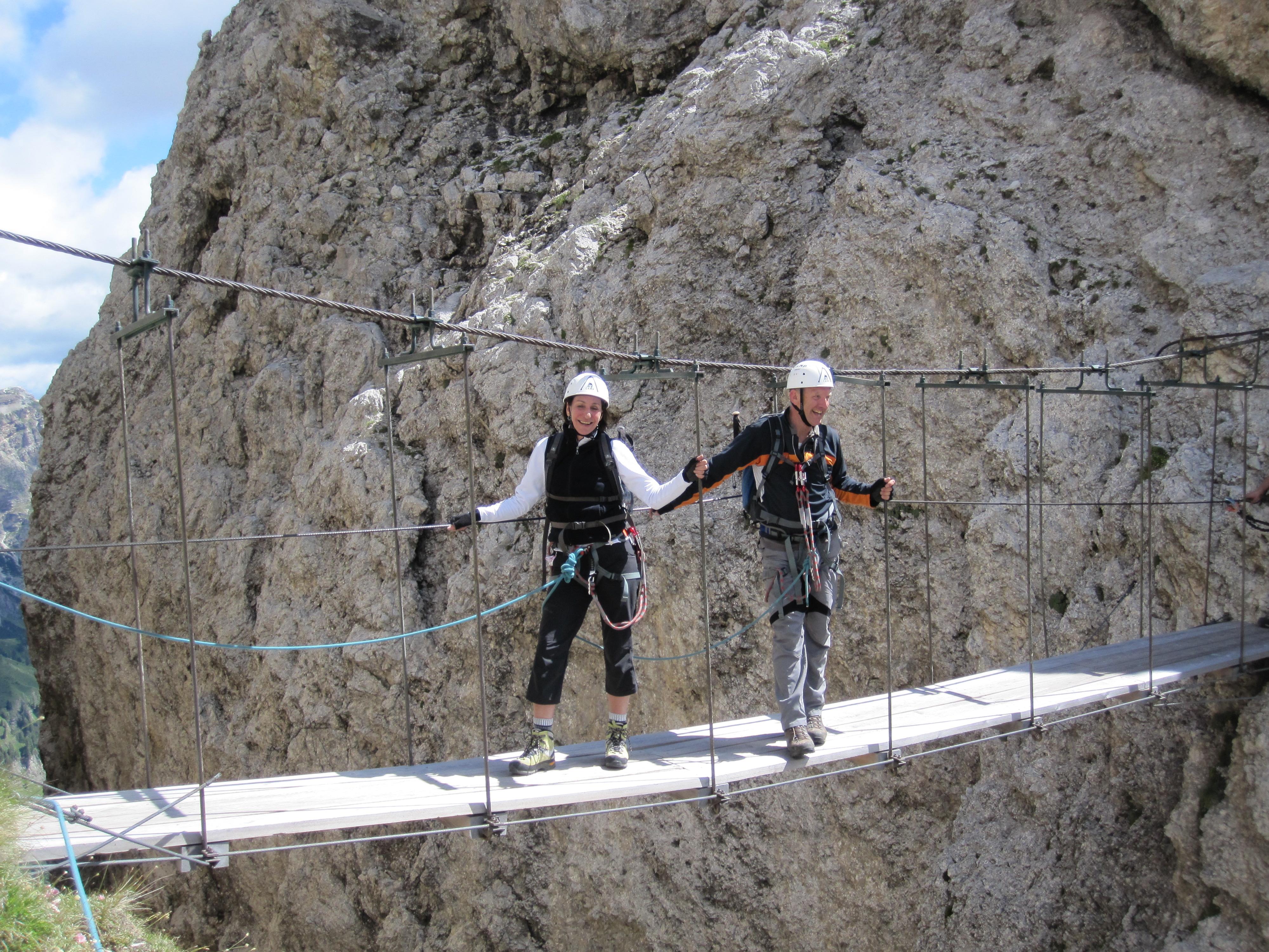 Klettersteig Pisciadu : Pisciadu klettersteig gröden