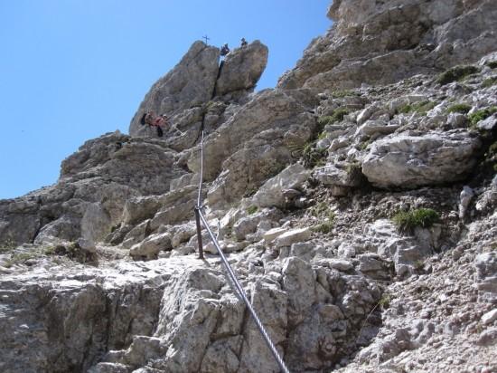 Klettersteig Cirspitze Groedental-dolomiten