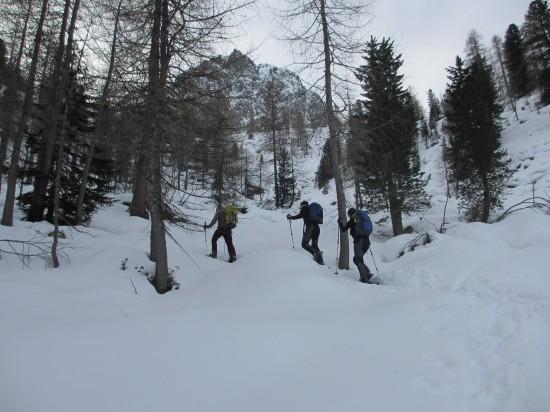 Schneeschuhwanderung-Cima-Iuribruto-Trentino-Fassatal