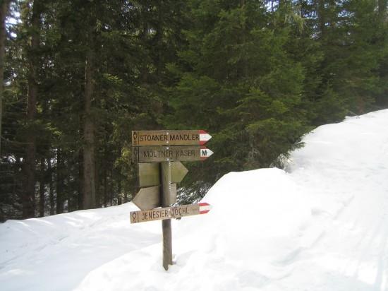 Schneeschuhwandern Sarntal
