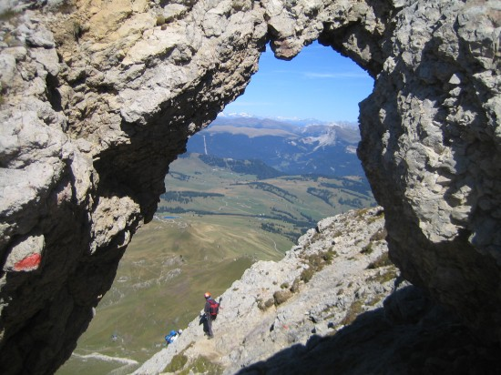 Maximilian Klettersteig : Maximiliansteig klettersteig im rosengarten schlern