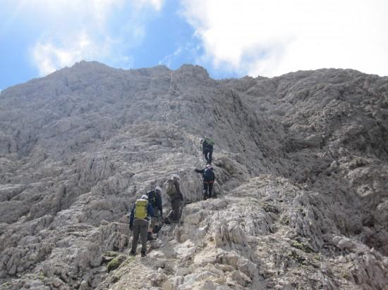 Klettersteig Rotwand : Überschreitung rotwand teufelswand masare