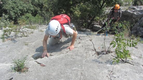 Alpin klettern Arco Sarcatal Gardasee