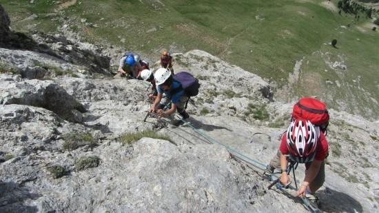 Klettertag: Klettersteig und Klettern