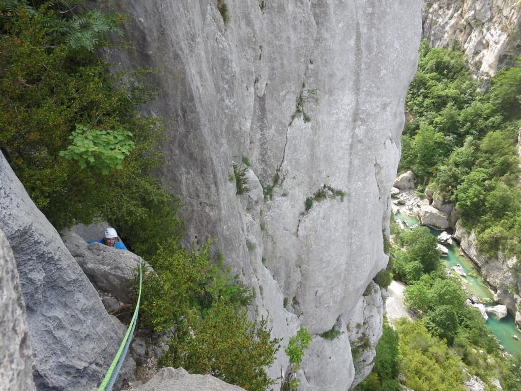 Klettern-verdon-Falaise des Malines