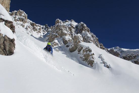 Boarden - Couloir al passo Pordoi - Dolomiti