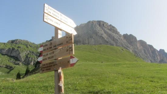 Klettersteig Sass Rigais Dolomiten Groeden