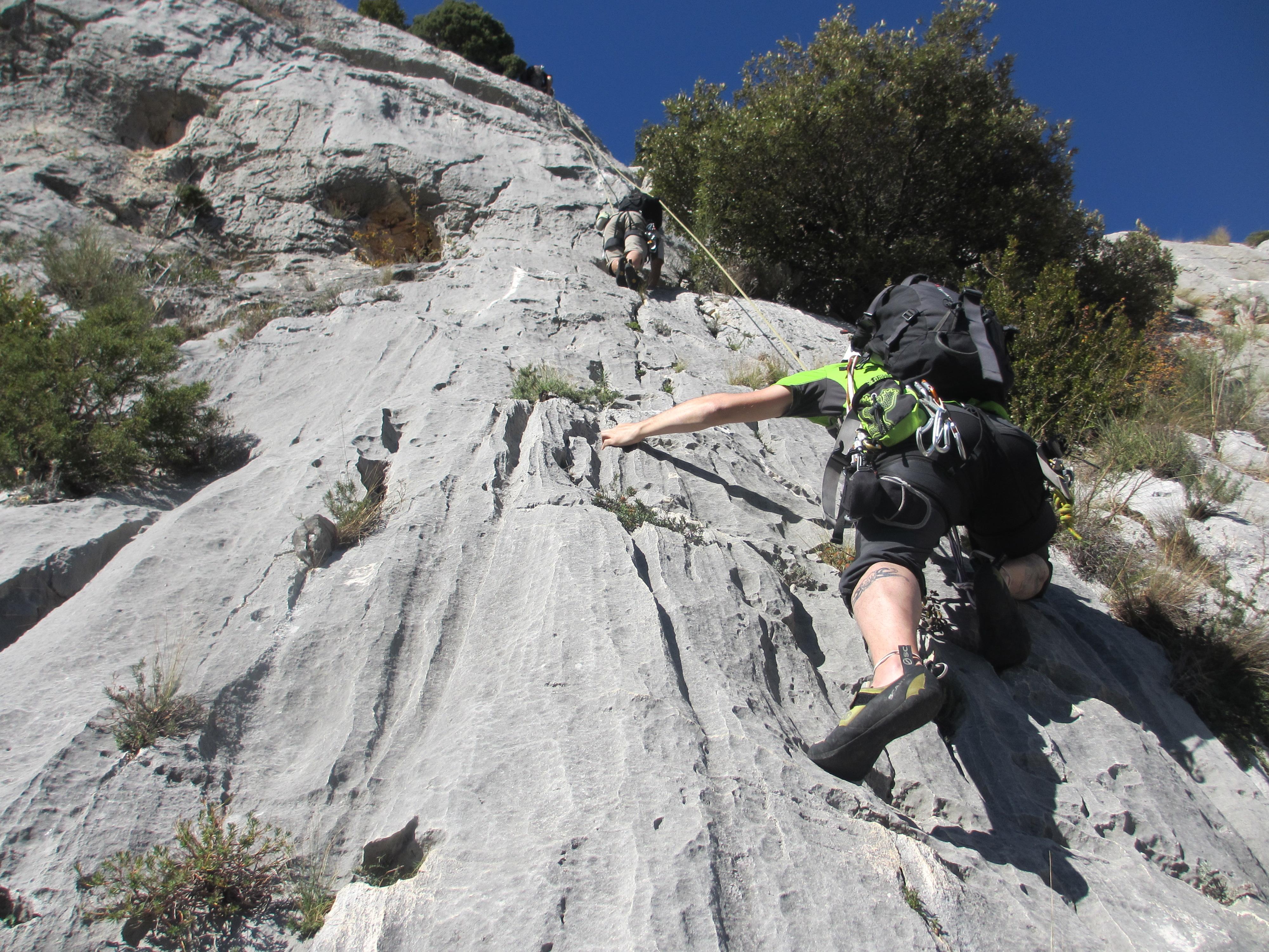 Klettersteig Verdon : Klettern in verdon haute provence frankreich