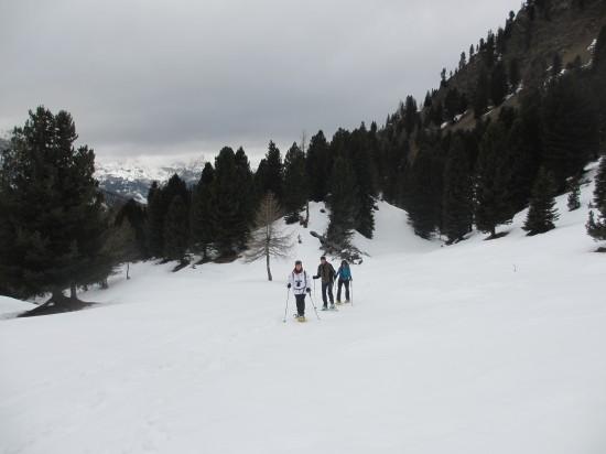 Schneeschuhwandern-Dolomiten-Fassatal