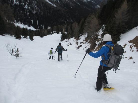 Schneeschuhwandern-Fassatal