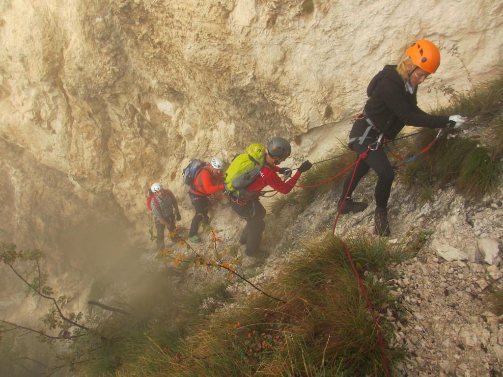 Klettersteigkurs-Dolomiten-Etschtal-Arco