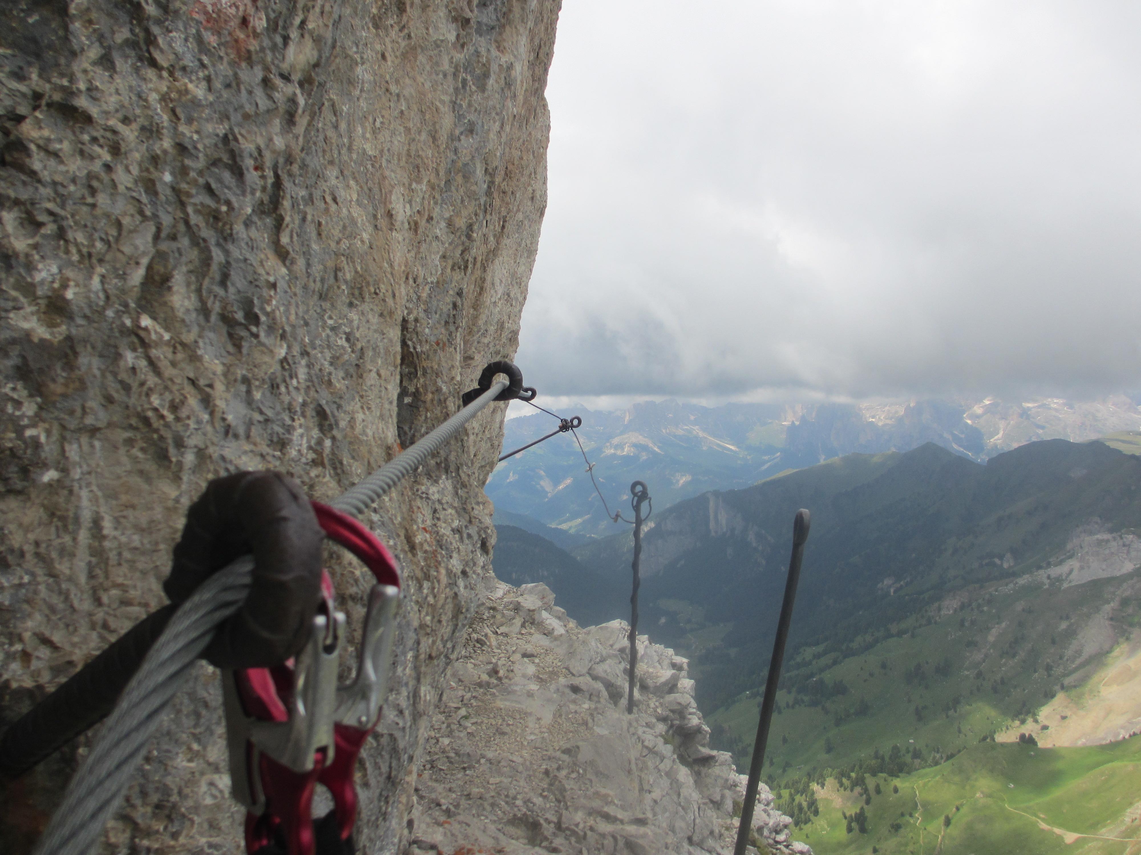 Klettersteig Dolomiten : Klettersteig col ombert fassatal