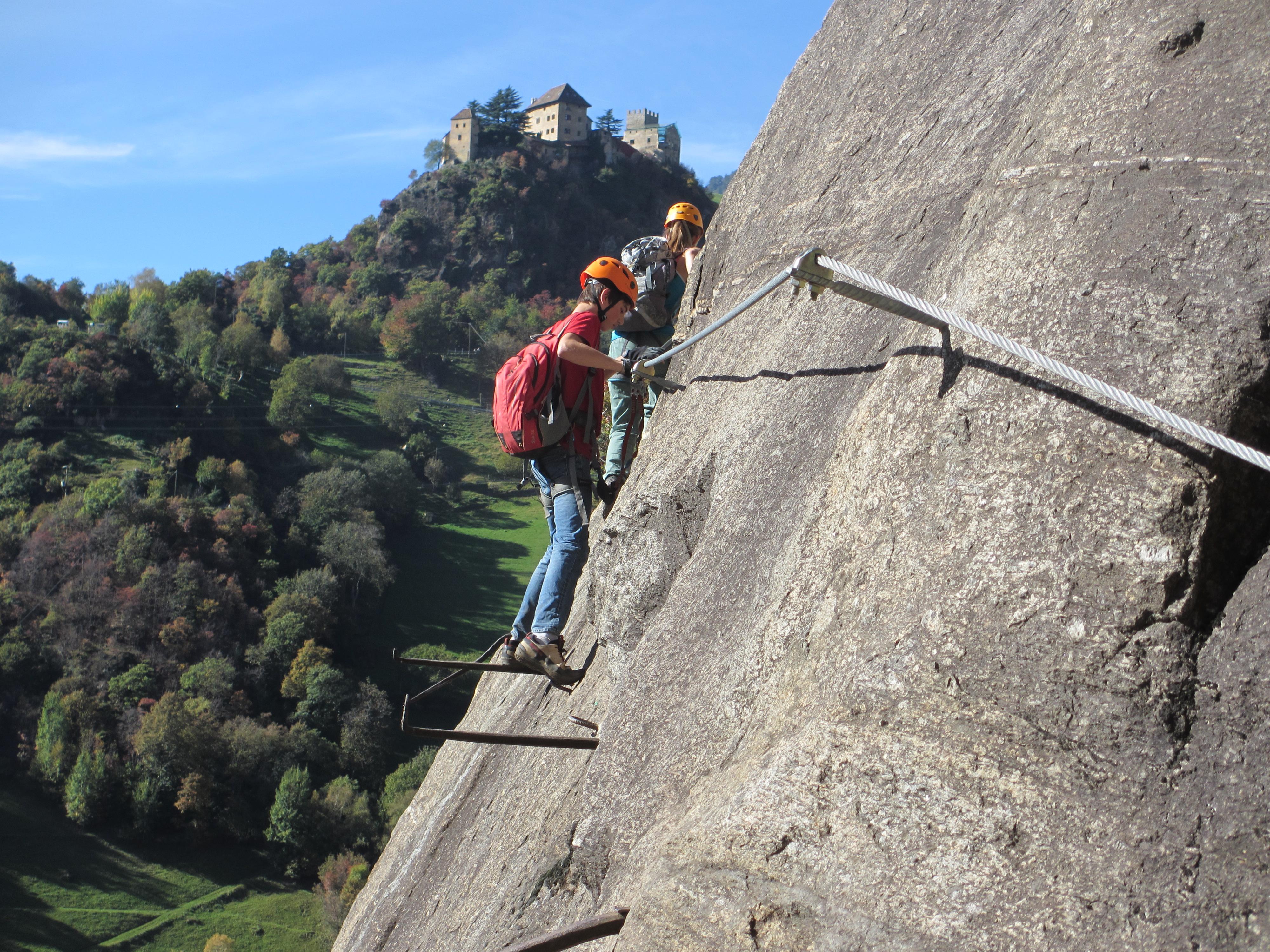 Klettersteig Meran : Klettersteig hoachwool naturns meraner land