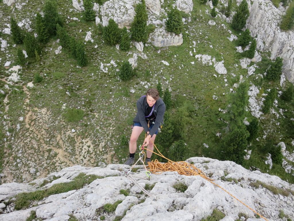 Standplatzbau-Alpin-Grundkletterkurs