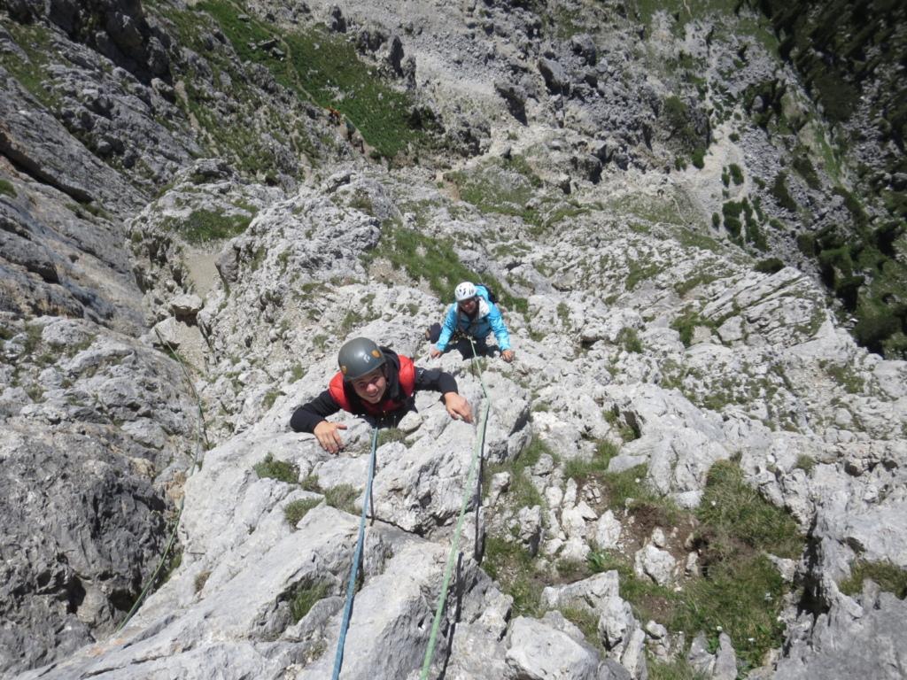 arrampicata alpina - introduzione corso roccia Dolomiti