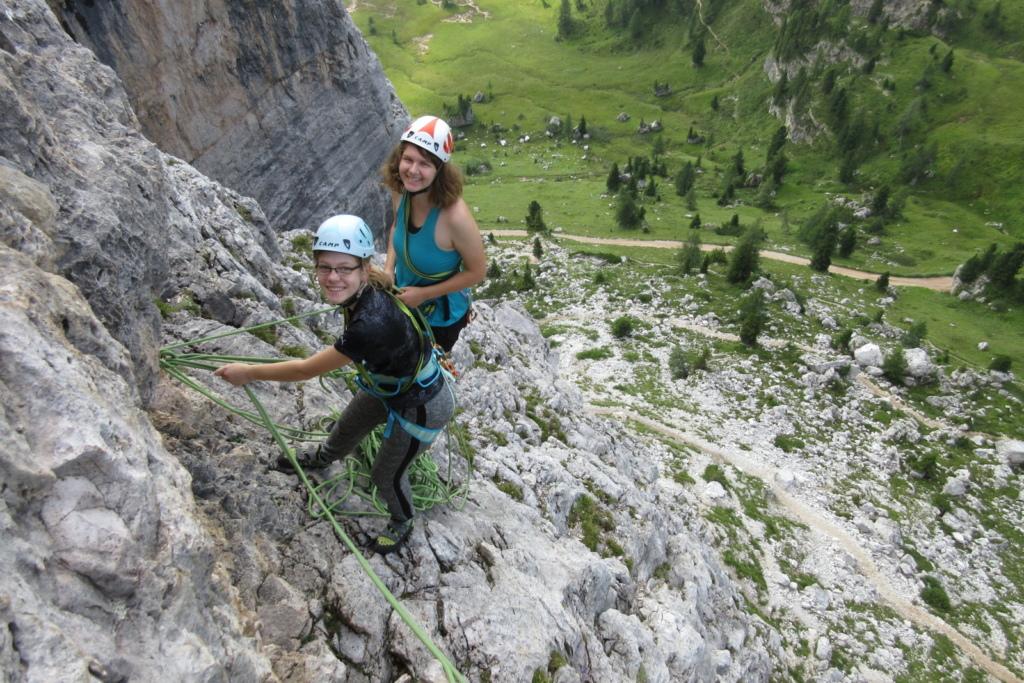 alpin Klettern Dolomiten