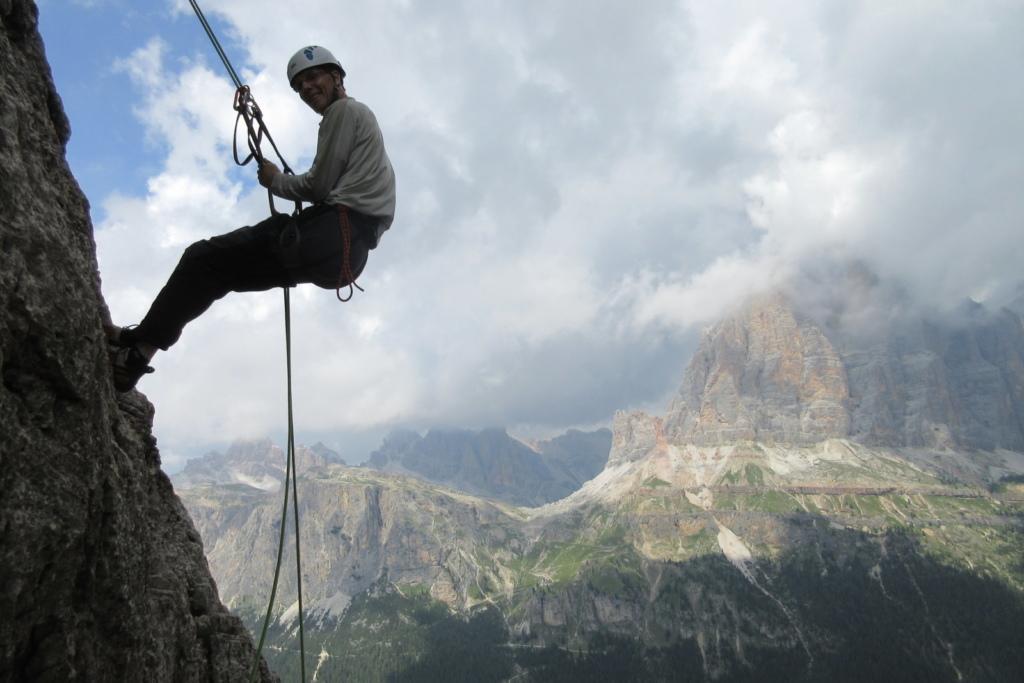 alpin Klettern in Dolomiten mit Bergführer