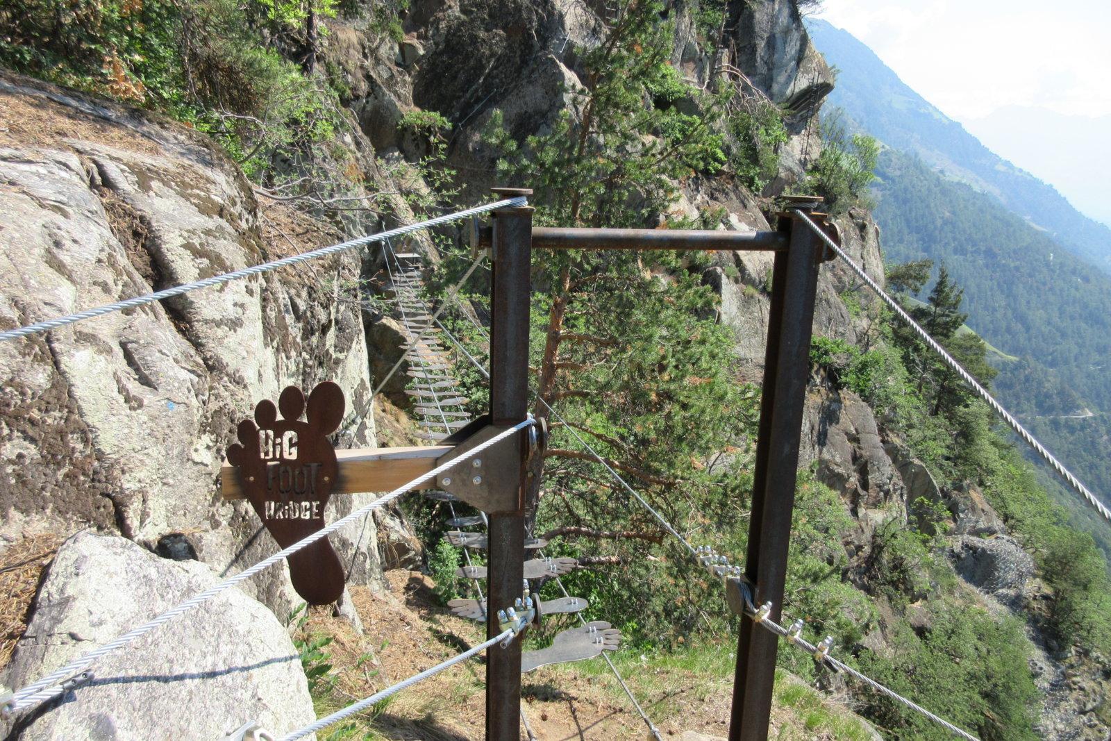 Kletterausrüstung Naturns : Familien Übungsklettersteig knott bei naturns meraner land