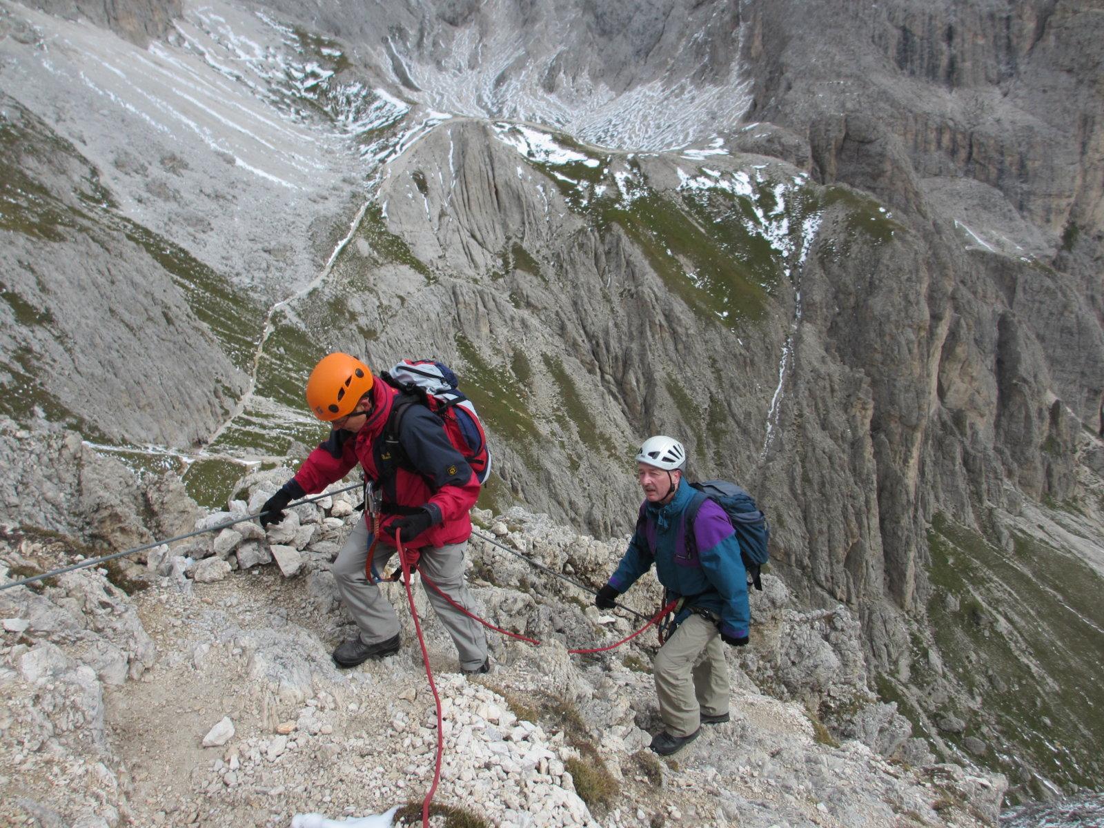 Klettersteig Rotwand : Rotwand klettersteig im rosengarten für anfänger