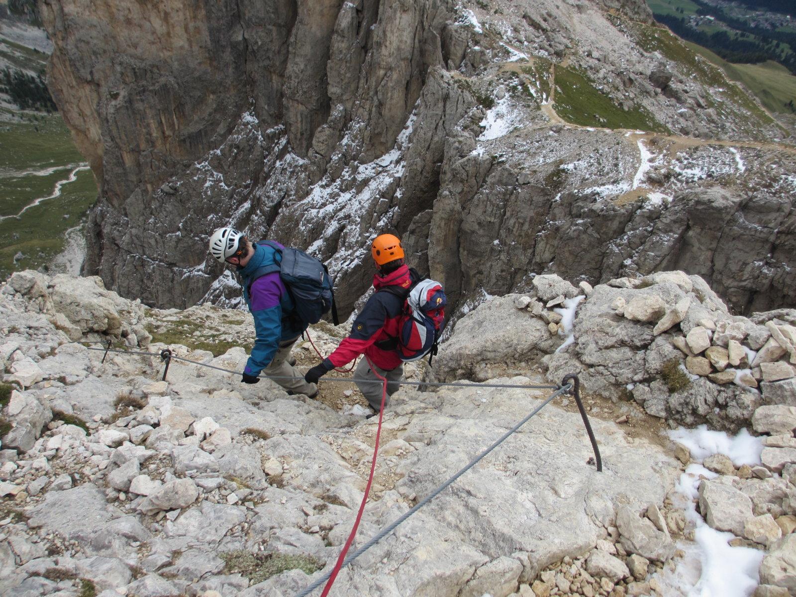 Rotwand Klettersteig im Rosengarten für Anfänger