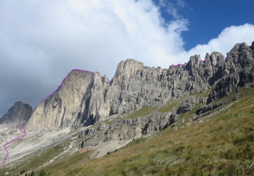 überschreitung rotwand teufelswand masare Rosengarten Klettersteig